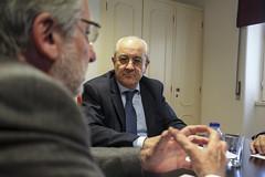 Rui Rio em reunião com representante dos Presidentes dos Conselhos Gerais dos Politécnicos