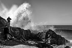 Agua bn (Joaquín Mª Crespo) Tags: byn blackwhite bw blackandwhite seascape water waves morocco monocromo