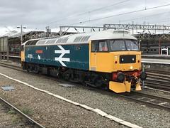 47593 Crewe 19/03/2019 (Brad Joyce 37) Tags: gallowayprincess mobilephone camera iphone train cheshire station crewe diesel locomotive largelogo class47 47593