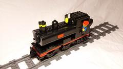 Lego GWR Pannier Tank Engine (Milton7991) Tags: lego train moc model own creation great western railway railroad track tracks trains legos tank engine pannier locomotive steam brick project 57xx 5700 class black red yellow 060pt 060 british uk britain england