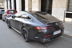 """Mercedes AMG GT 63S """"ma première"""" (Monde-Auto Passion Photos) Tags: voiture vehicule auto automobile mercedes amg gt 63s gt63s berline noir black sportive rare rareté new nouveauté georgev france paris"""