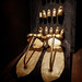 Gold  sandals with finger and toe guards 18th dynasty New Kingdom Egypt