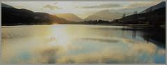 Lac de Thorame (RarOiseau) Tags: v1000 alpesdehauteprovence lac panorama couchant montagne hiver reflet