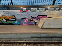 graffiti train @mainstation zurich (Toni_V) Tags: sbb cff ffs graffiti hb mainstation hauptbahnhof iphoneography iphone xr 2019 train zug sbahn architecture zurich zürich switzerland schweiz suisse svizzera svizra europe bahnhof 190105