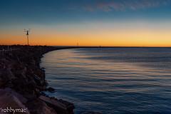 'Blue Hour' (robby.macgillivray) Tags: sun ocean water blue hour breakwater adelaide south australia inlet channel marine seaside