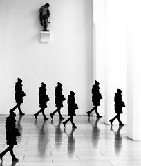 double B&W (matwolf) Tags: doppelgänger double women walking girl frau experiment manipulation blackandwhite bw noiretblanc noiretlblanc negroyblanco blancoynegro schwarzweis schwarzundweis siluette silhuette