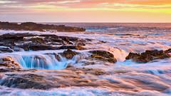 Wawaloli beach and Pele's Well (topendsteve) Tags: wawaloli beachpeelswellpelewelllavatubeoceansurfslowwatersunset hawaii bigisland kona peles well peelswell sunset beach water surf ocean