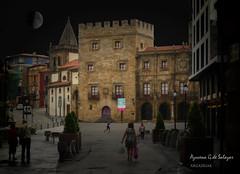 Gijon (azucena G. De Salazar) Tags: gijon asturias street calles color noche