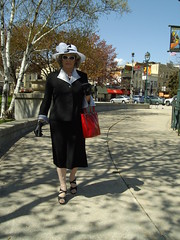 Part Of My Continuing Attempts To Present Myself As A Lady (Laurette Victoria) Tags: lady woman laurette hat suit downtown gloves purse