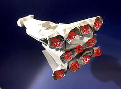 Tantive IV Blockade runner origami revised edition rear view (Matayado-titi) Tags: sugamata spaceship starship starwars space shusugamata stardestroyer blockade runner tantive origami star wars matayado