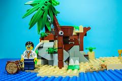 Seul sur l'Île perdue | Alone on Lost Island (Brick Frame) Tags: peter parker island ile lego stopmotion brick frame brickframe skull squelette spiderman shark