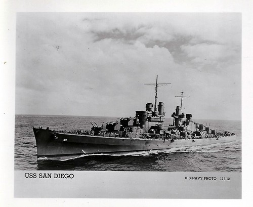 USS San Diego (CL-53), Light Cruiser, WWII