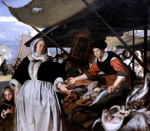 IMG_9034  Emanuel de Witte. 1615-1692.  Delft Amsterdam.   Adriana van der Heuden et sa fille au nouveau marché aux poissons à Amsterdam Adriana van der Heuden and her Daugther  at the New Fishmarket in Amsterdam.  vers 1662.    Londres. National Gallery.