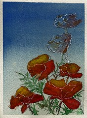 Poppies 7 (Pax30091) Tags: arches aquarelle acuarela flower poppies inkt