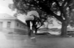 Bronco in motion (ontimanyeneng440) Tags: photography filmphotography film 35mm monochrome blackandwhite pentaxmz30 kentmere100