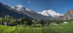 Rakaposi as seen from Aliabad - Naar Valley - GB - Pakistan (fumer Umer Seeru) Tags: lake landscape mirrorlake autumun cannon dawn hunza swat swatvalley hunzavalley gilgitbaltistan pakistan alpine wakhancorridor snowcapped karakoram himalayas