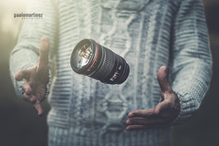 the L-evitation (Paolo Martinez) Tags: 6d 135mm 50mml stilllife blur oggetti outdoor hands bokeh equipment