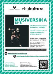 Musiversika 2019 (EHUkultura) Tags: ehukultura cartel ehu upvehu musika música