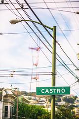 Castro (Thomas Hawk) Tags: america bayarea california castro castrodistrict castrostreetfair castrostreetfair2013 northerncalifornia sfbayarea sanfrancisco sutrotower usa unitedstates unitedstatesofamerica westcoast norcal streetsign