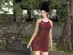 Entrance no.384 (Curiosse) Tags: secondlife 2019 newrelease luxeparis darkred goldcoverup sensual beautiful shortdress aprilsecondliferegionessencessecondlifeparcelessencessecondlifex146secondlifey143secondlifez21