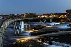 Castleford Footbridge (boogie1670) Tags: fuji xt3 fujifilm 1024mm lens dusk sunset millenium bridge castleford river aire blue hour