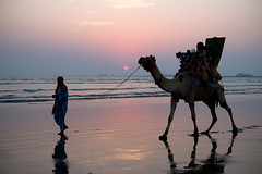 Sunset at Karachi Beach (CMGS1988) Tags: karachi sindh 巴基斯坦 pk flickrtravelaward