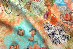 mimipinto@spoonflower (MimiPintoArt) Tags: sewing crafts nature organic watercolor art organisms biomechanics chemistry sea life marine ocean species zen meditation mindfulness yoga diy homedecor quilting