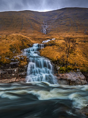 The Light & the Stream @ Glen Etive (stefanblombergphotography.com) Tags: autumn clouds fall flow highlands hill hillside landscape light mountain mountainrange nature outdoor rock sky stefanblombergphotography stream water waterfall color wwwstefanblombergphotographycom