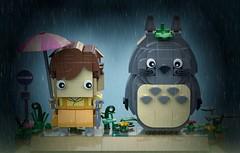 Totoro & Satsuki - BrickHeadz Moc (headzsets) Tags: lego legos brickheadz brickheads toy photography collection funko pop vinyl minifigures moc mocs brick heads totoro satsuki hayao miyazaki anime otaku