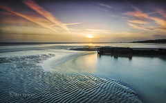 Half and half (Through Bri`s Lens) Tags: sussex worthing worthingpier lowtidereflection longexposure beach sand groyne outfall brianspicer canon5dmk3 canon1635f4 lee09softgrad
