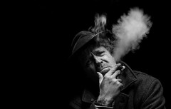 Have a Cigar (My Life in Pictures..) Tags: portrait bw mono monochrome portraits portraiture black white smike