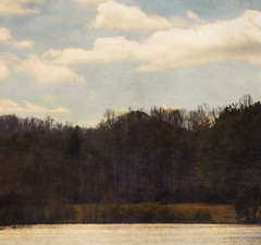 These Days (Southern Darlin') Tags: art lake sky clouds trees texture photoshop photography naturephotography