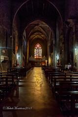 Basilica di San Francesco alla Rocca (Michele Monteleone) Tags: viterbo tuscia arte architettura chiesa basilica navata canon 5dmarkiii michelemonteleone vetrata polocromo