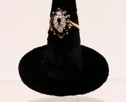 10kt Sapphire and Diamond Ladies Ring ($420.00)