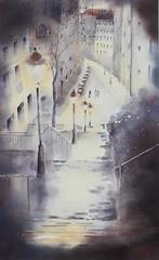 Montmartre - rue de la Chappe (Demars Philippe) Tags: paris montmartre escalier ruedelachappe nuit