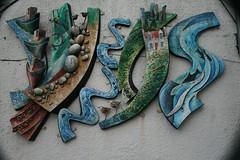 Wall in Stornoway (Dietersche) Tags: stornoway harbour wall art