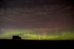 winter aurora old post office (John Andersen (JPAndersen images)) Tags: abandoned alberta constellations mossleigh night sky stars