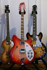 Paul • George • John (mausgabe) Tags: panasonicdmclx100 leica2475mmf1728 nyc home gear music guitar höfner 5001 bass rickenbacker 36012 epiphone casino