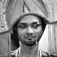 Pride! (gro57074@bigpond.net.au) Tags: 2019 march sydneymardigras pride nosering ring face f28 70200mmf28 nikkor d850 nikon monochrome monotone mono blackwhite bw man candidportrait portrait candid guyclift mardigras sydney
