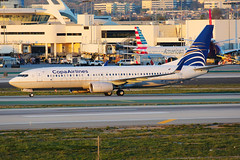 Copa Airlines Boeing 737-8V3 HP-1846CMP (Mark Harris photography) Tags: spotting lax la canon 5d plane boeing aviation 737 copa