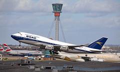 G-BYGC - Boeing 747-436 - LHR (Seán Noel O'Connell) Tags: britishairways ba speedbird retro boac gbygc boeing 747436 b747 b744 747 heathrowairport heathrow lhr egll 27l ord kord ba295 baw295 aviation avgeek aviationphotography planespotting