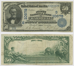 United States $50.00 (fifty dollars) national currency (SMU Libraries Digital Collections) Tags: texas money national us united states currency paper banks notes note banknote banknotes chartered bank banking bardwell ellis elliscounty