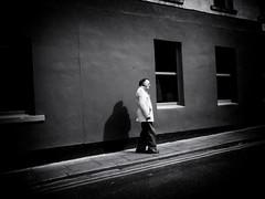 Empty Streets (Feldore) Tags: dublin temple bar street candid man empty shadow ireland irish feldore mchugh em1 olympus 17mm 18