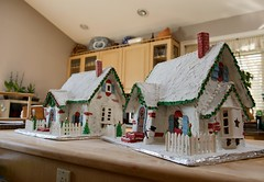 Merry Christmas! (ineedathis, Everyday I get up, it's a great day!) Tags: snowman fence merrychristmas snow royalicing roof carrot buttons coal bricks gingerbreadhouse2018 miniature sugarwork gumpaste modeling baking nikond750 chimney kitchen christmastree