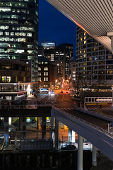 Vancouver after dark (_pavelk) Tags: canada vancouver street city night dark lights waterfront