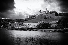 Festung Marienberg BW (rschnaible) Tags: wurzburg germany europe sightseeing building architecture bw black white photography monotone festung marienberg castle fort fortress old
