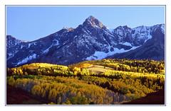 Colorado's Autumn Palette - Mount Sneffels, 1993 (sjb4photos) Tags: colorado coloradorockies dallasdivide mountsneffels sanjuanmountains autumn epsonv500