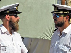 sail, amsterdam (gerben more) Tags: uniform amsterdam sail hat netherlands beard men nederland ship