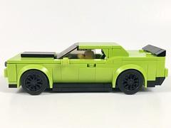 Dodge Challenger SRT (wooootles) Tags: lego moc legomoc legocar sportscar coupe musclecar dodge challenger srt hellcat speedchampions v8 hemi mopar