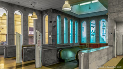 Naples, Italy: Salvator Rosa metro station open atrium (nabobswims) Tags: campania ilce6000 it italia italy lightroom linea1 masking metro mirrorless nabob nabobswims naples napoli photoshop sel18105g sonya6000 station subway ubahn salvatorrosa